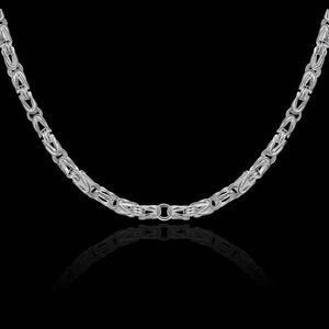 Jewelry - Silver Plated Solid Loop Interlinked Necklace